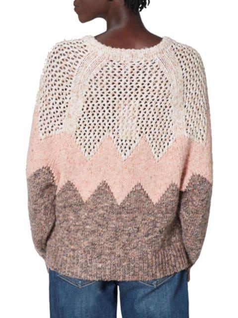 Joie Mikah Chevron Sweater | SaksFifthAvenue