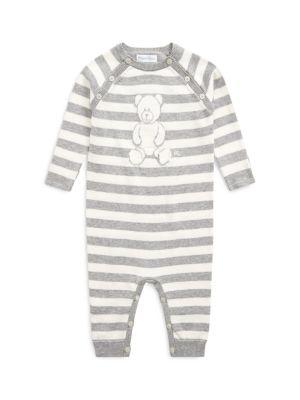 폴로 랄프로렌 베이비 커버올 우주복 (아기옷 선물 추천) Polo Ralph Lauren Babys Striped Coverall,GREY CREAM