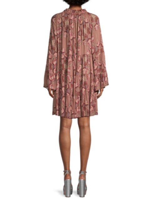 Johnny Was Bellick Ruffle Mini Dress | SaksFifthAvenue