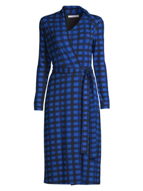 BOSS Ettay Plaid Wrap Dress | SaksFifthAvenue