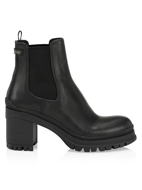 Prada Lug-Sole Leather Chelsea Boots