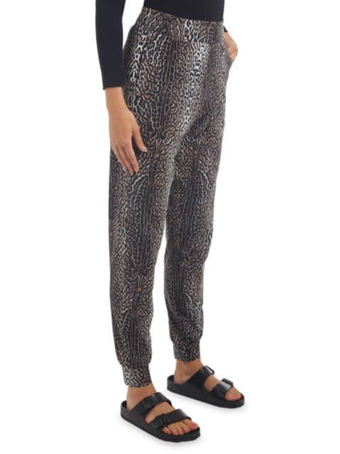 Chiara Boni La Petite Robe Kris Leopard Joggers | SaksFifthAvenue