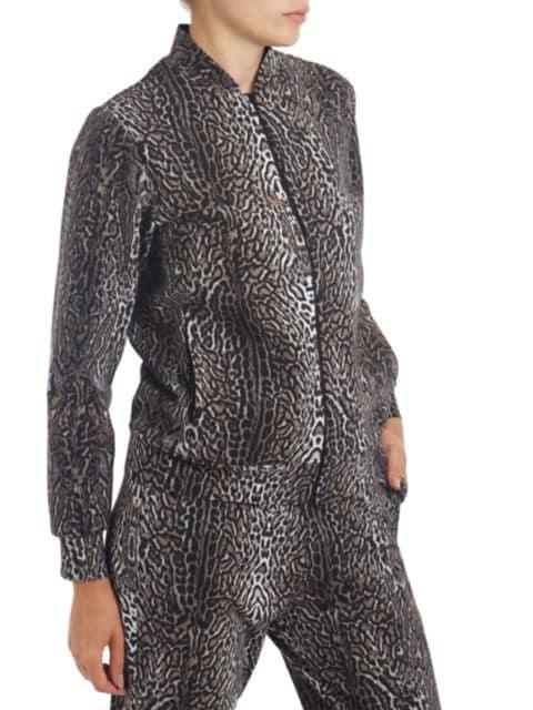 Chiara Boni La Petite Robe Leopard-Print Bomber Jacket   SaksFifthAvenue