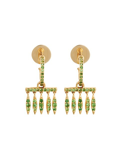 Grass 18K Yellow Gold & Tsavorite Fringe Drop Earrings