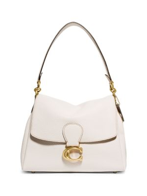 Coach Leathers May Pebbled Leather Shoulder Bag