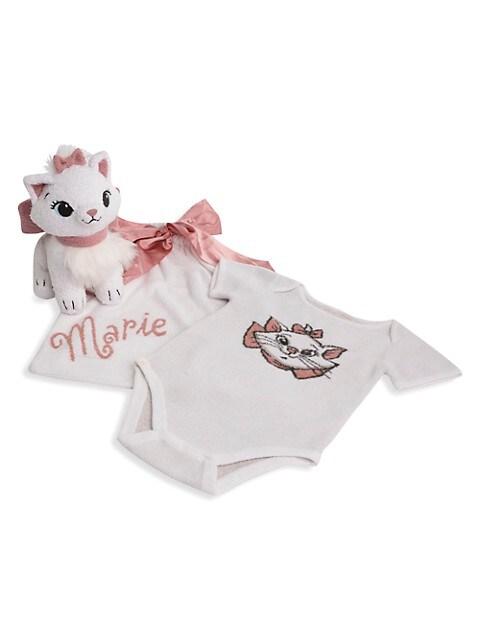 Disney's Aristocats Marie Baby Girl's 3-Piece Bodysuit, Bag & Plush Toy Set