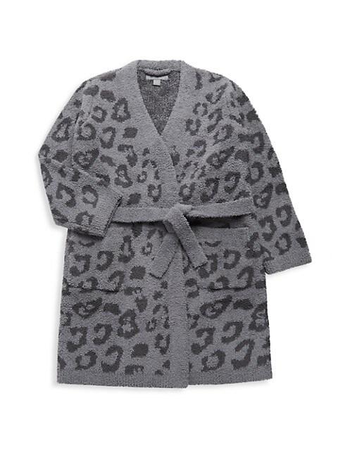 Little Girl's & Girl's Leopard-Print Robe