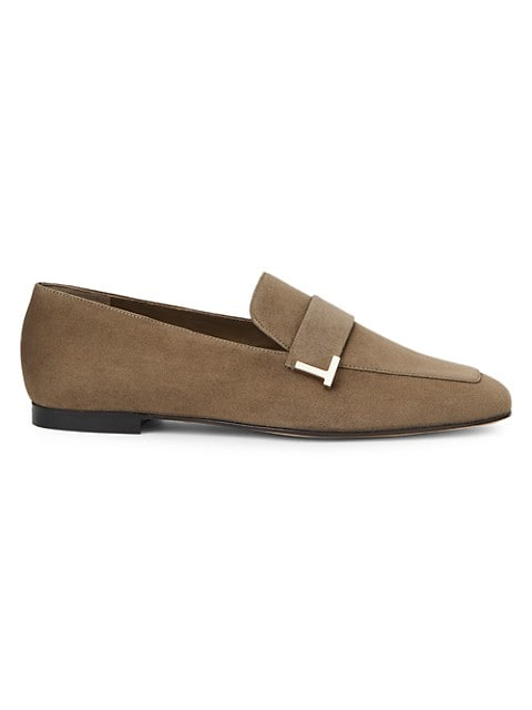 Eve Square-Toe Suede Loafers