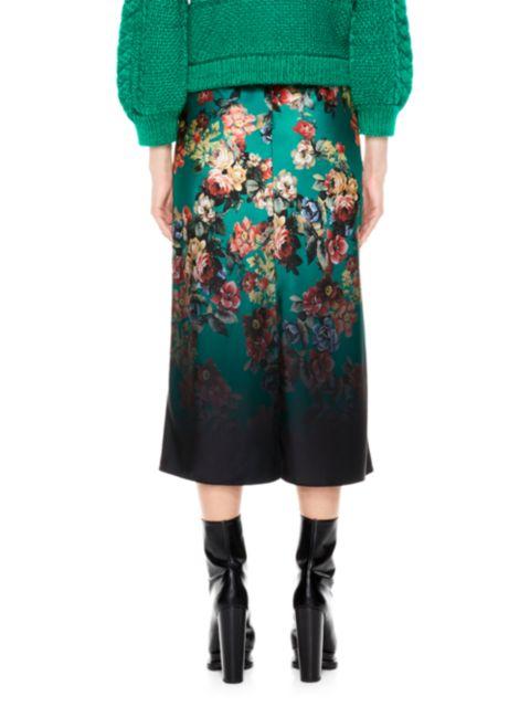 Alice + Olivia Maeve Midi Skirt With Slit   SaksFifthAvenue