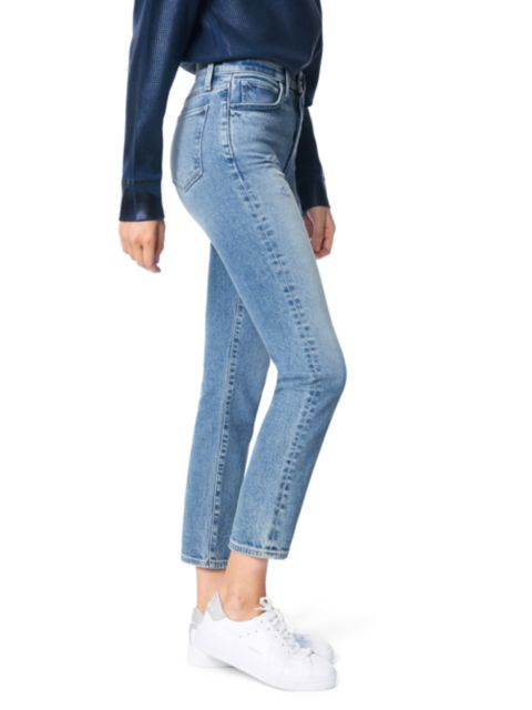 Joe's Jeans The Luna High-Rise Slim Straight Ankle Jeans   SaksFifthAvenue