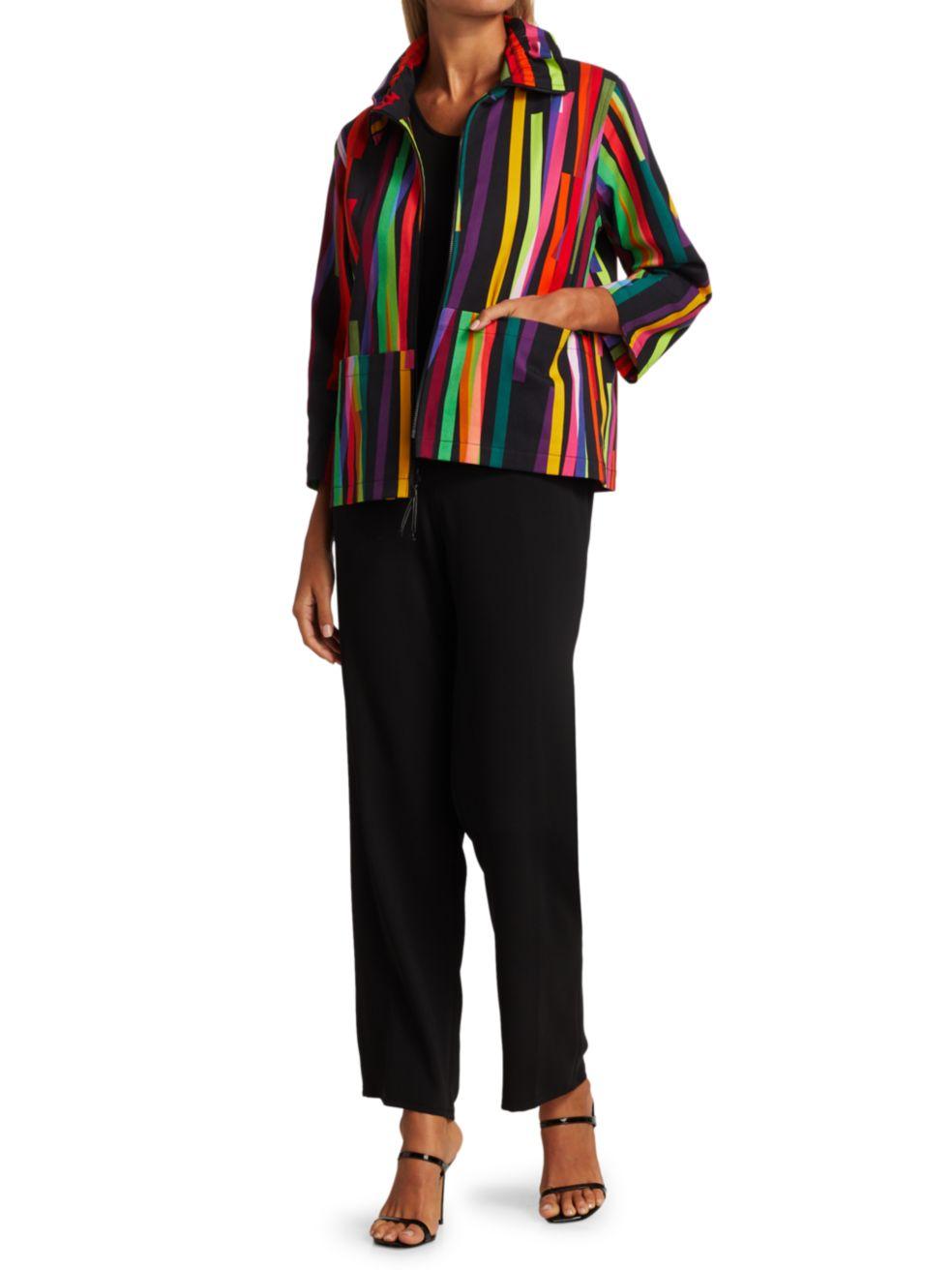 Caroline Rose Living Color Stretch Twill Zip Jacket   SaksFifthAvenue