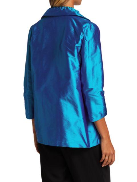 Caroline Rose Silk Shantung Shirt | SaksFifthAvenue