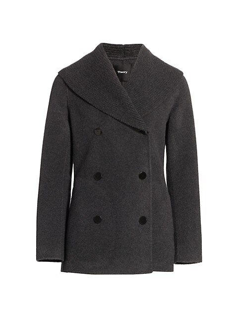 Theory Shawl Collar Wool & Cashmere Peacoat