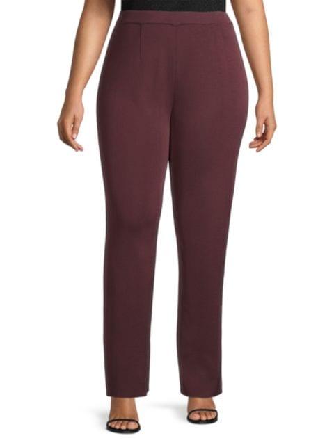 Misook, Plus Size Straight Leg Knit Pants | SaksFifthAvenue