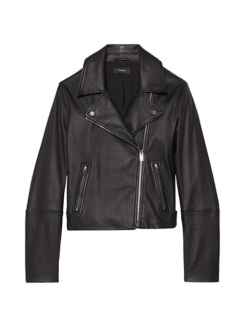 Theory New Moto Leather Zip Jacket