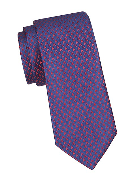 Allover V Silk Tie