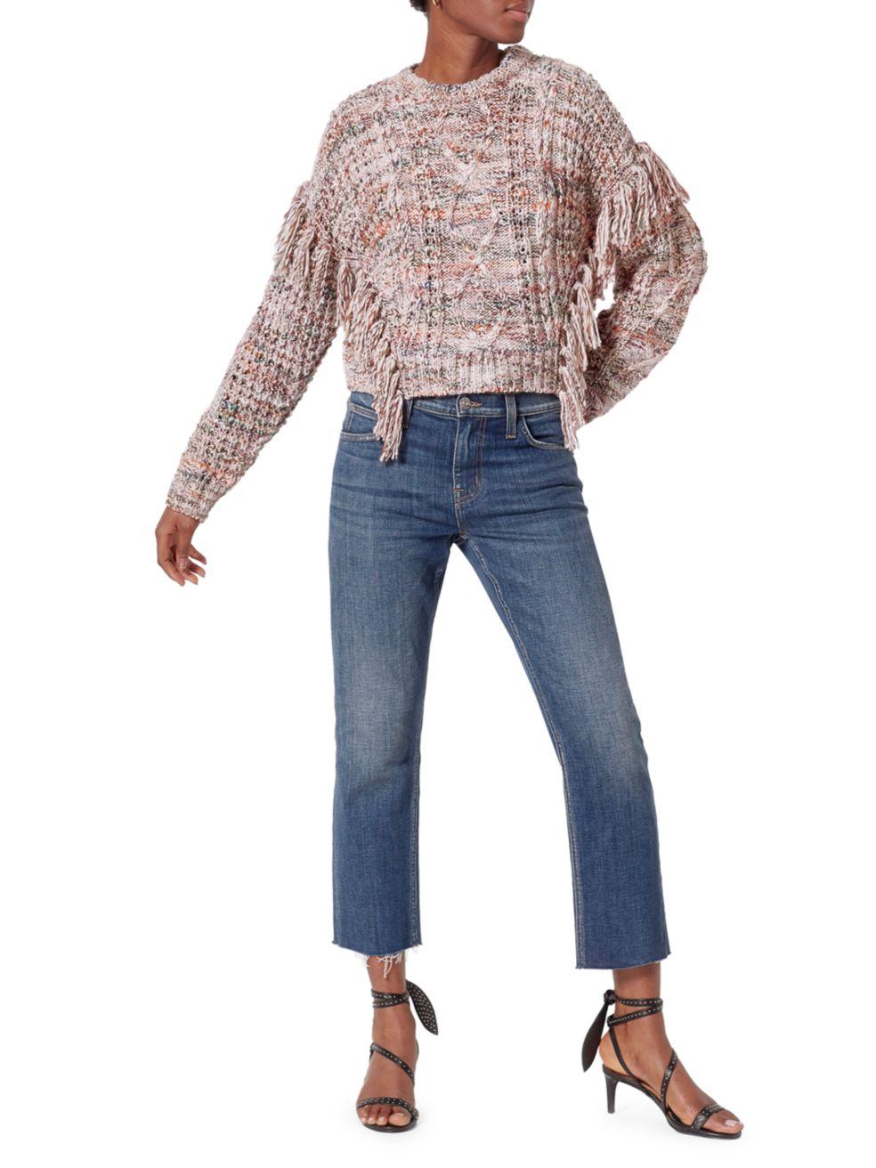 Joie Meghan Fringe Trim Sweater | SaksFifthAvenue