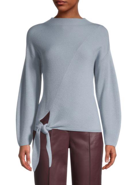 Rebecca Taylor Side-Tie Wool-Blend Sweater   SaksFifthAvenue