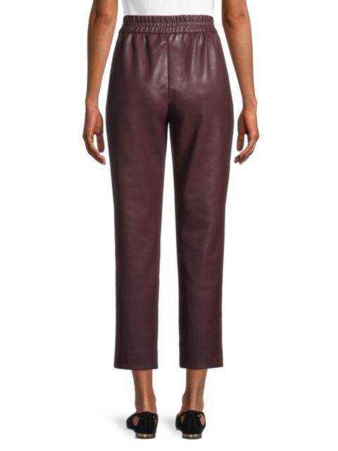 Rebecca Taylor Vegan Leather Track Pants | SaksFifthAvenue