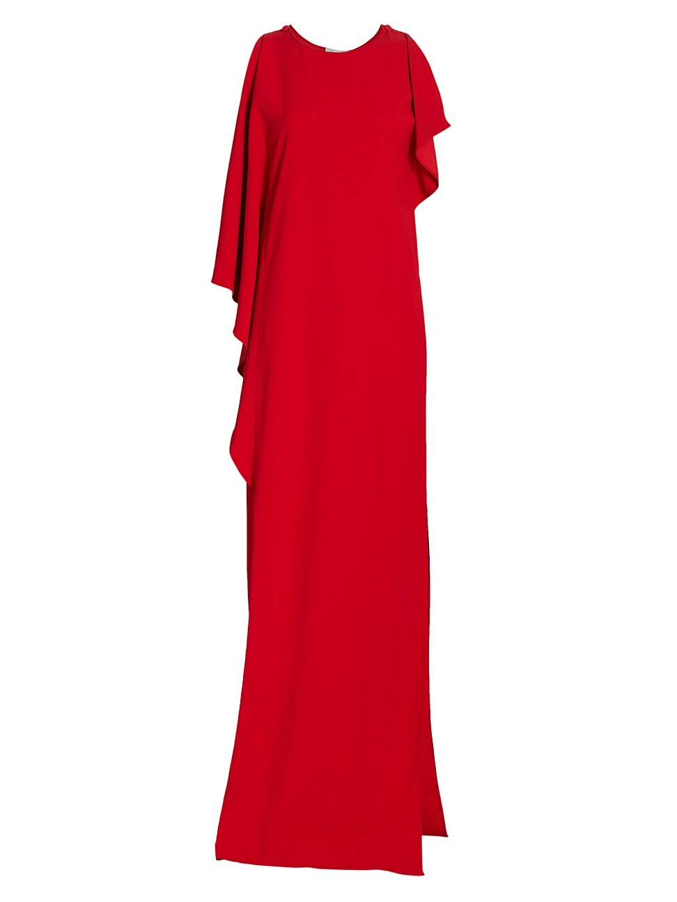 St. John Women's Draped Stretch Cady Gown In Red Orange