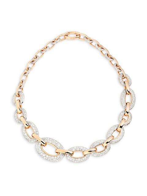 Tango 18K Rose Gold & Diamond Link Collar Necklace