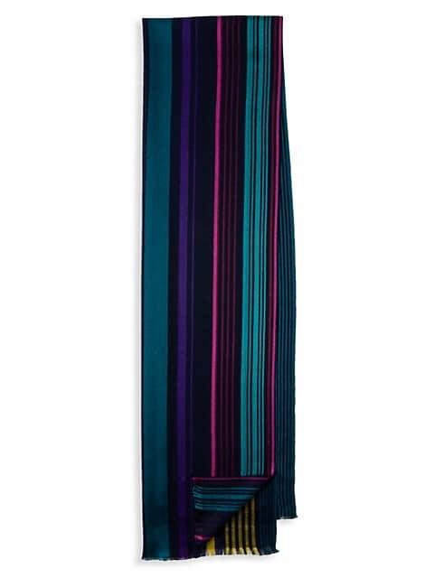 Superstripe Silk & Wool Scarf