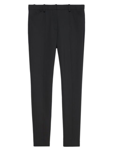 Theory Twill Seamed Trousers   SaksFifthAvenue