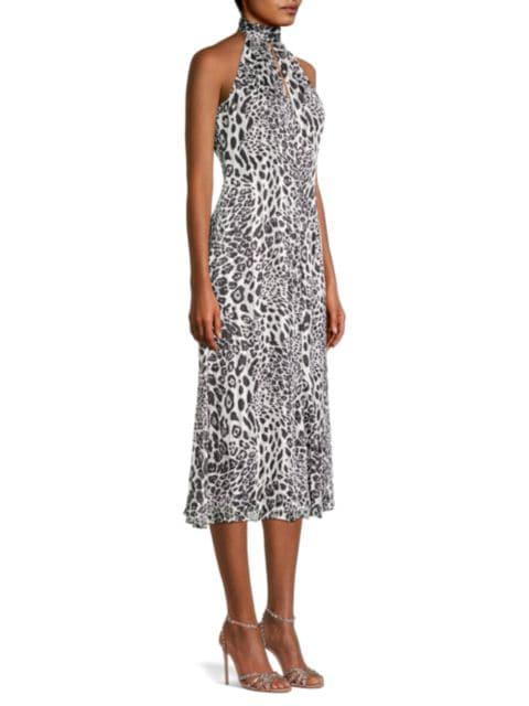 Milly Adrian Leopard-Print Burnout Dress   SaksFifthAvenue
