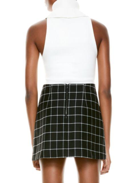 Alice + Olivia Darcey Dimensional Sleeveless Turtleneck Sweater | SaksFifthAvenue