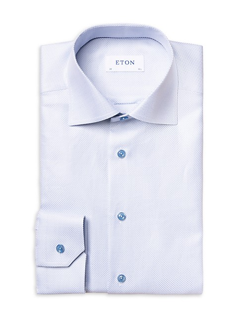Contemporary-Fit Tonal Piping Twill Dress Shirt