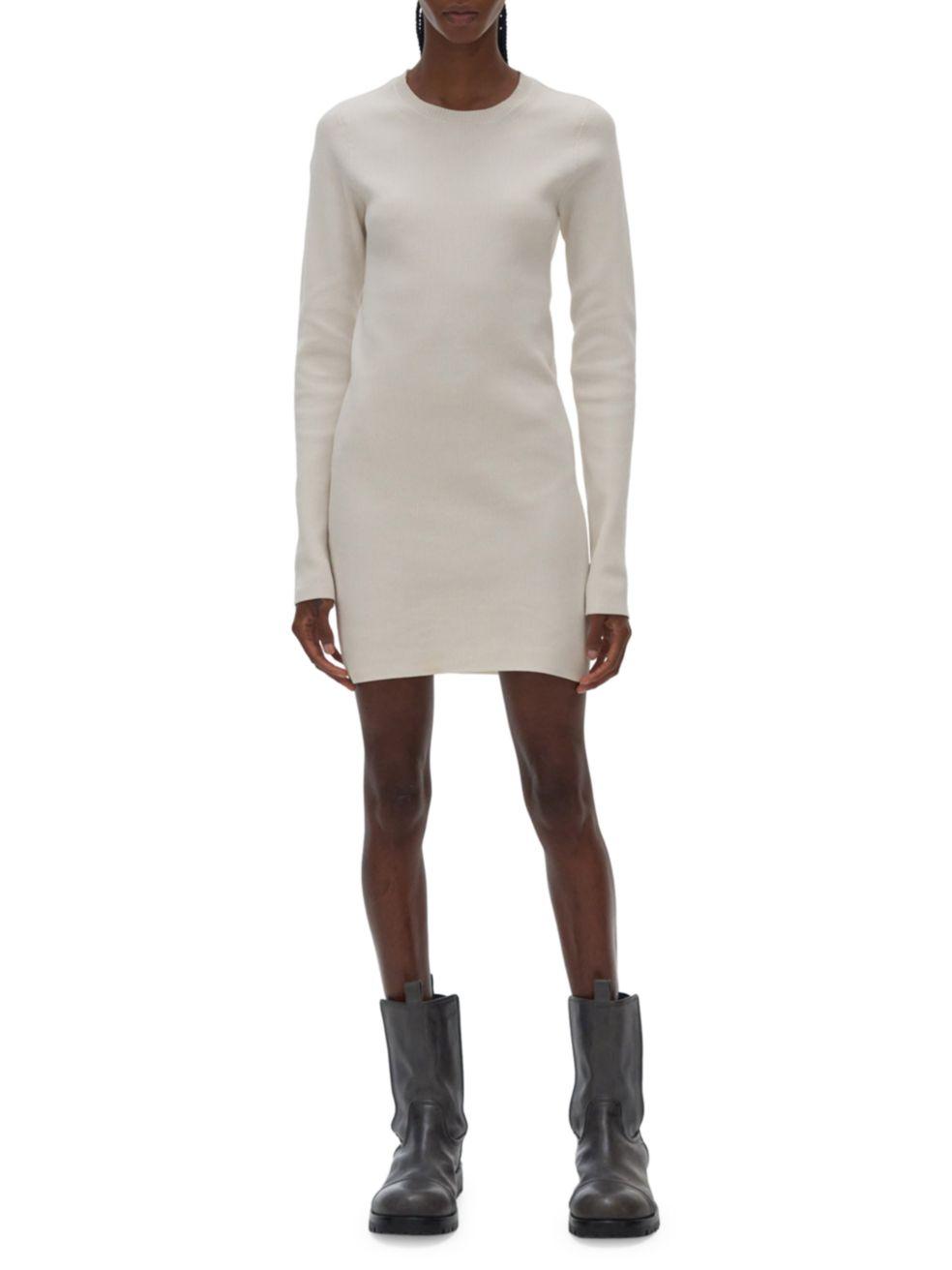 Helmut Lang Slash Sweater Dress   SaksFifthAvenue