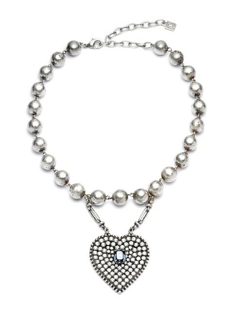 Mercer Swarovski Crystal-Embellished Heart Pendant Bracelet