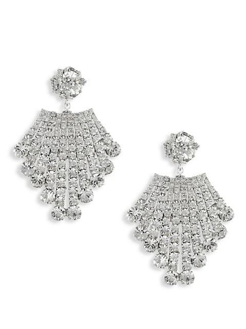 Bianca Swarovski Crystal Cluster Drop Earrings