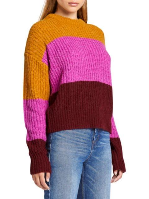 A.L.C. Robertson Colorblock Sweater   SaksFifthAvenue