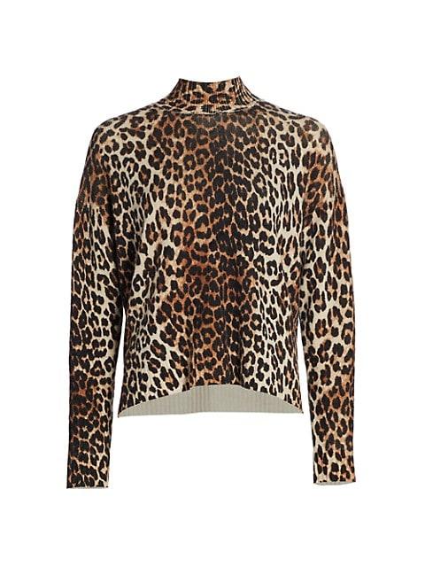 Leopard Print Wool Sweater