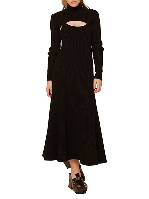 Thousand-In-One-Ways Ribbed Wool Turtleneck Dress