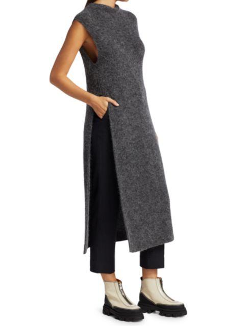 Ganni Knit Shift Dress   SaksFifthAvenue