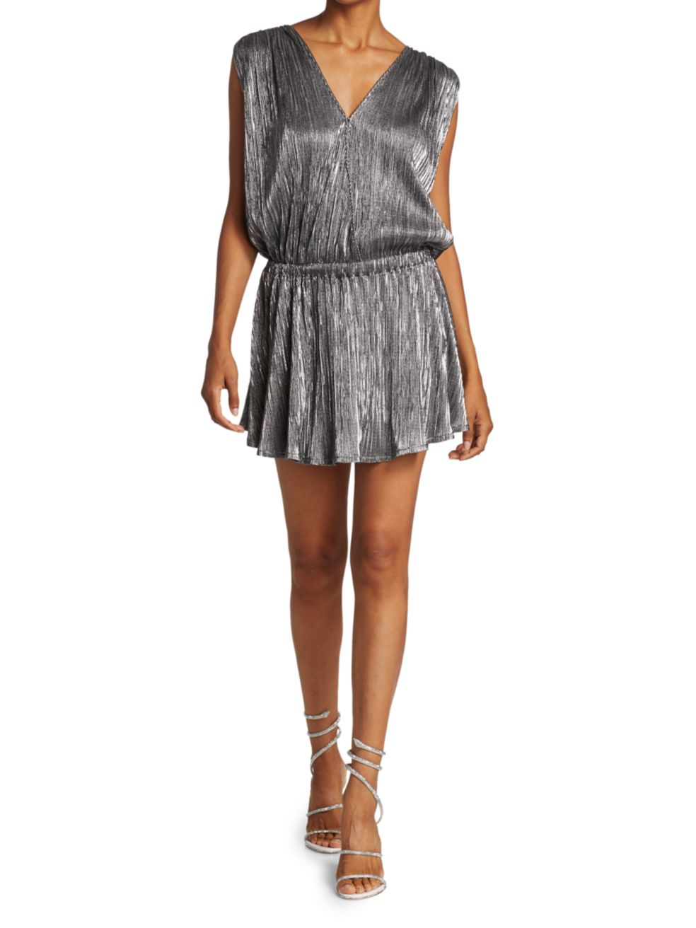 Ramy Brook Maya V-Neck Shine Dress | SaksFifthAvenue