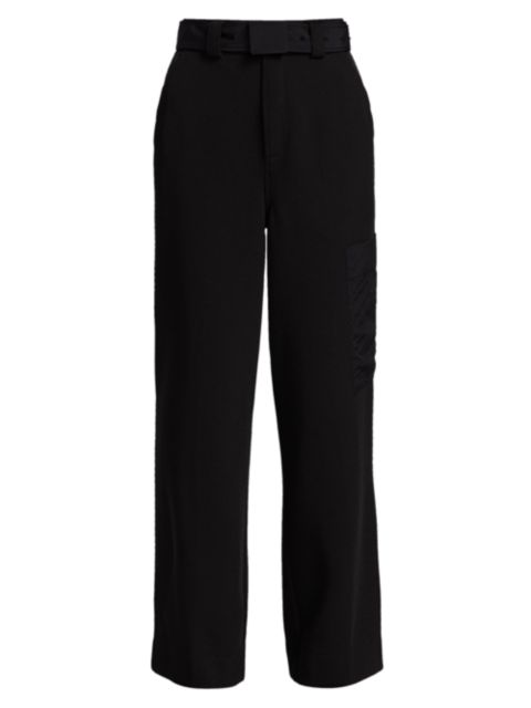 Ganni Belted Twill Trousers | SaksFifthAvenue