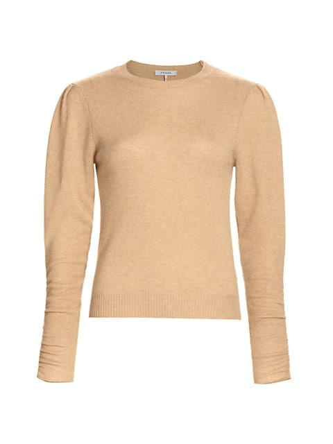 Gabby Recycled Cashmere & Wool Puff-Sleeve Sweater