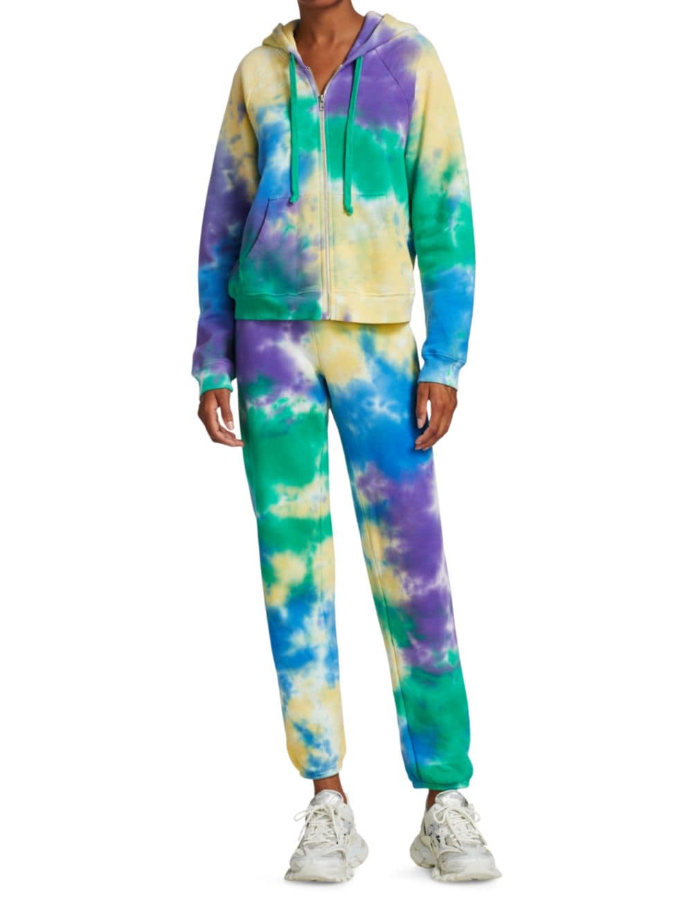 Warm Tie-Dye Zipper-Front Hoodie | SaksFifthAvenue