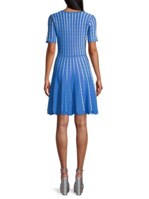 Shoshanna Textured Knit Mini Dress   SaksFifthAvenue