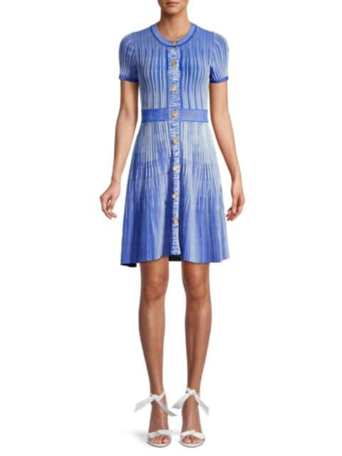 Shoshanna Estefania Melange Knit Dress   SaksFifthAvenue
