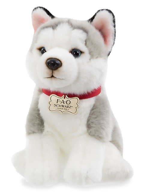 Plush Floppy Husky Puppy Toy