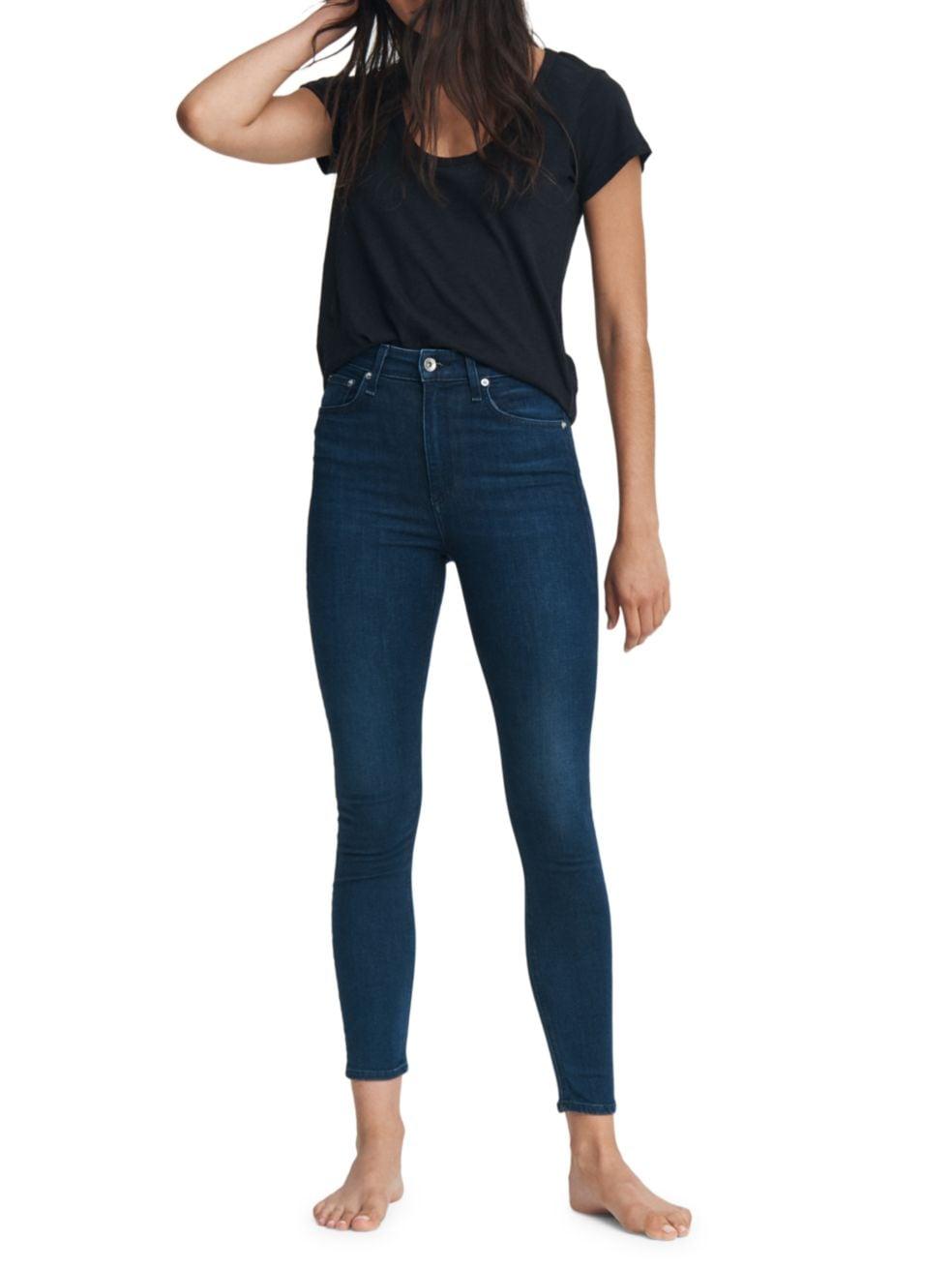 Rag & Bone Nina High-Rise Skinny Ankle Jeans   SaksFifthAvenue