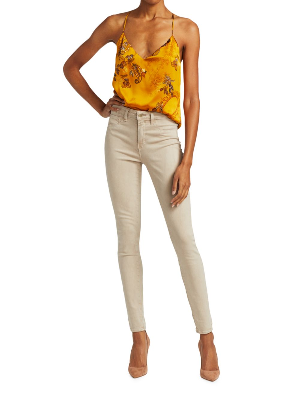 L'Agence Marguerite High-Rise Skinny Jeans   SaksFifthAvenue