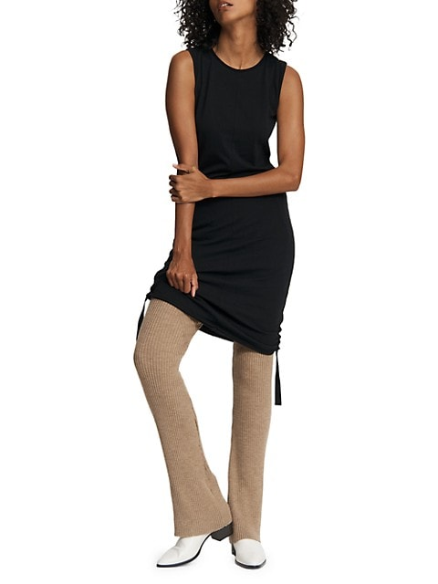 Gisella Sleeveless Ruched Side Tie Dress