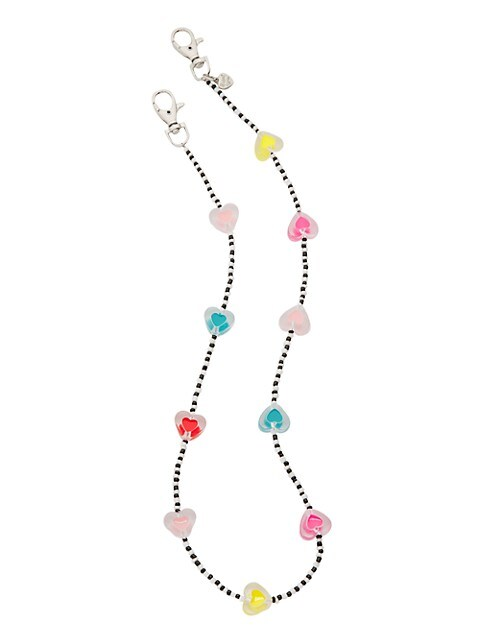 Multicolor Hearts Face Mask Chain