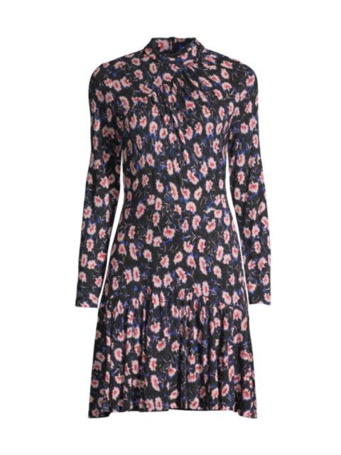 Rebecca Taylor Fleur Long-Sleeve Dress | SaksFifthAvenue