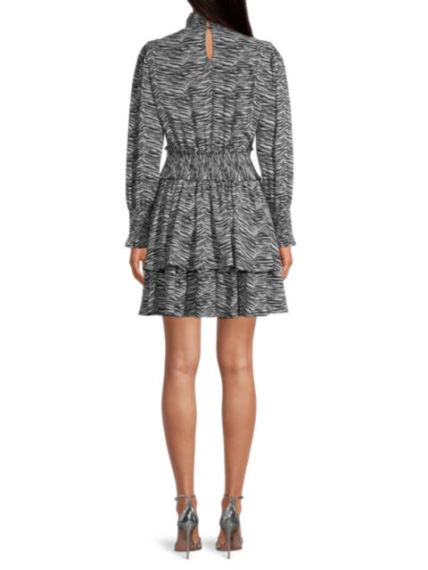 Rebecca Taylor Mini Tiger-Print Dress | SaksFifthAvenue